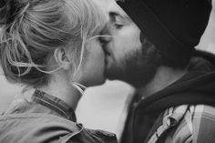 kiss. black + white.