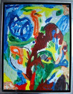 Inversione genetico creato da uomini – Menneskeskabt genetisk inversion, 40 x 30 cm acrylic on canvas.