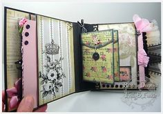 April in Paris, chunky mini album by rebeccadeeprose - Cards and Paper Crafts at Splitcoaststampers