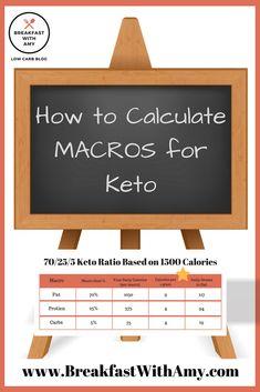 How To Calculate Macros EASY! - Breakfast With Amy Macro Calculator App, Keto Macros Calculator, Fat Bombs, Macros Dieta, Low Carb Blog, Keto Regime, Diet Apps, Starting Keto, Ketosis Diet