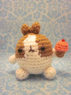 SALE Molang Cute Wee Little Rabbit Bunny with Ice by SpudsStitches, $21.00