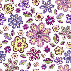 ejemplo de perfecta con coloridas flores abstractas en el fondo blanco Foto de archivo