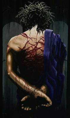 """""""Healing's Price"""" by Chuck Carr copyright 1997 Jesus Christ Lds, Pictures Of Jesus Christ, Jesus Faith, Jesus Drawings, Cross Wallpaper, Crucifixion Of Jesus, Jesus Painting, Mary And Jesus, Eucharist"""