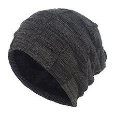 e0c3b3c78c6 New Janey Rubbins Winter Baggy Oversize Solid Knit Beanie Hat Warm Villi  Lined Skull Ski Cuff
