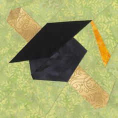June Graduation Cap Quilt Block Pattern