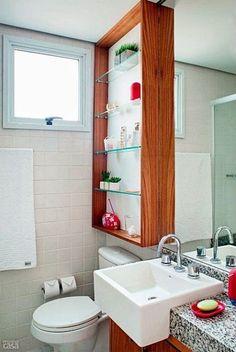 nicho em banheiro