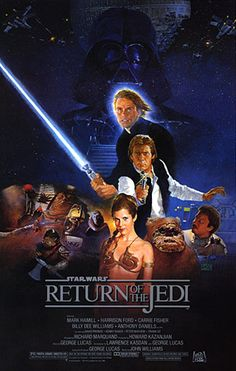 Return of the Jedi,1983, is the third installment in the original Star Wars trilogy and the first film to use THX technology. The film is set one year after The Empire Strikes Back. The film stars Mark Hamill, Harrison Ford, Carrie Fisher, Billy Dee Williams, Anthony Daniels, David Prowse, Kenny Baker, Peter Mayhew and Frank Oz.