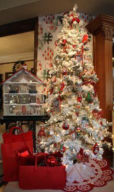 White&Red Christmas V Bcn Christmas Tree, Holiday Decor, Home Decor, Xmas, Teal Christmas Tree, Decoration Home, Room Decor, Xmas Trees, Xmas Tree