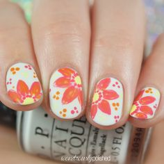 The Digital Dozen does Nail Heroes - Day 1: Debbie from The Crumpet - floral nail art