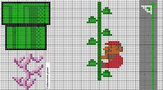 Super Mario plants,tube,flag