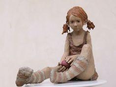 Art Sculpture, Pottery Sculpture, Carpeaux, Fox Nursery, Broken Doll, Paper Mache Crafts, Ceramic Figures, Oeuvre D'art, Figurative Art