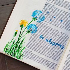 Very simple little piece of Bible journaling I did to represent one of my…