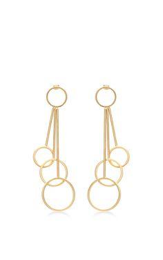 Gold Circular Earrings by MARNI for Preorder on Moda Operandi