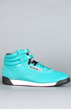 $65  Cute Reeboks. I haven't worn these since the single digit years.  The Hi Mayan Sneaker in Totally Teal by Reebok
