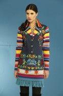 #607 - Sunset Floral Jacket & #602 - Saltillo Stars Knit Skirt