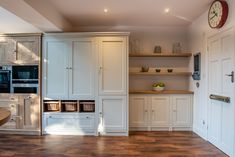 The Oak Timbers Kitchen is an example of a handcrafted Shere Kitchen to show the craftmanship of our work and give you ideas for your bespoke kitchen Timber Kitchen, Larder Cupboard, Integrated Fridge, Handmade Kitchens, Bespoke Kitchens, Family Kitchen, Dinning Table, Shaker Style, Beautiful Kitchens