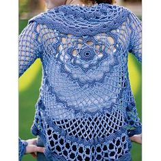 Ladies' Lacy Leaf Cocoon Shrug Crochet Pattern
