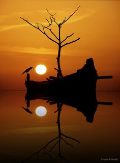 Great Composition - Silhouette and Reflection
