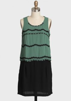 Fleurs De Nuit Tiered Dress 42.99 at shopruche.com. We love this gorgeous forest green and black tiered dress with scalloped lace and ribbon detailing. Skirt features convenient side pockets and two faux welt pockets in the back. Finished with a hidden back zipper closure. Fully lined.100% Polyester, Imported,...
