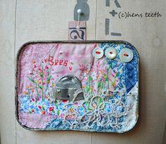 altered tin artwork by Viv