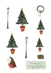 Free Christmas printables from Papercraft Inspirations 183 - Papercraft Inspirations Christmas Images, Christmas Crafts, Xmas, Free Christmas Printables, Free Printables, Vintage Images, Word Art, Decoupage, Craft Projects