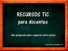 ICT resources by Saúl Martín via slideshare Tools For Teaching, Teaching Strategies, Too Cool For School, I School, Professor, Software Apps, Digital Storytelling, Flipped Classroom, Mobile Learning