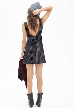2015 Fashion Women Dresses Sexy Black with Dots Patterns Backless Sleeveless Bow in Back Waist Women Short Dress Bow Back Dresses, Sexy Dresses, Short Dresses, Looks Street Style, Sexy Party Dress, Dress For Short Women, Women's Fashion Dresses, Dress To Impress, Forever 21