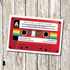 Mix Tape 80's Themed Birthday Invitation by deedubdesigns