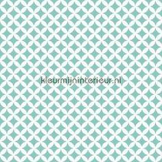 Retro turquoise klebefolie 13472Gekkofix-collectie