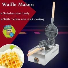 168.25$  Buy now - http://ali2ku.worldwells.pw/go.php?t=32693255590 -  2PC FY-1.R-B Gas restaurant round Cafe waffle machine waffle maker/Gas waffle machine 168.25$