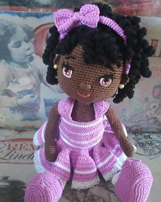 Gorgeous Amigurumi Dolls Love this sweet travelling doll crochet amigurumi pattern!As you know, I love amigurumi! And I'm so impressed by the lovely amigurumi doll patterns that are a Yazıyı Oku… Make your child your own toy … my the is Doll Dress Crochet Dolls Free Patterns, Crochet Doll Pattern, Amigurumi Patterns, Doll Patterns, Pattern Ideas, Crochet Mouse, Cute Crochet, Crochet Baby, Crochet Doll Clothes