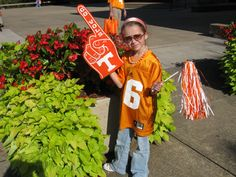 This young Vol fan is ready for football season!