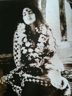 Anandamayi Ma in deep bhava samadhi