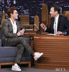 KJ Apa appeared on 'The Tonight Show Starring Jimmy Fallon' on Friday (April where the actor, who stars in 'Riverdale' and 'The Last Summer,' Archie And Betty, The Last Summer, Vince Vaughn, Apa Style, Luke Perry, Its A Mans World, Tonight Show, Jimmy Fallon, Celebs