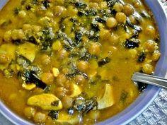 Potaje de garbanzos con espinacas Chickpea Recipes, Vegetable Recipes, Vegetarian Recipes, Cooking Recipes, Healthy Recipes, Mexican Food Recipes, Ethnic Recipes, Good Healthy Snacks, Mediterranean Recipes