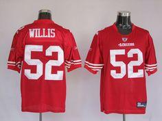 Nike NFL Jerseys San Francisco 49ers Patrick Willis  52 Red  25.00 e4404f333