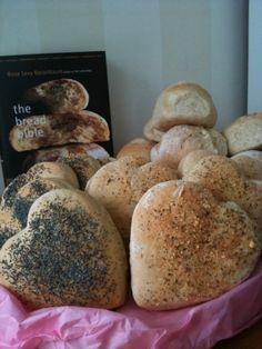 heart shaped bread