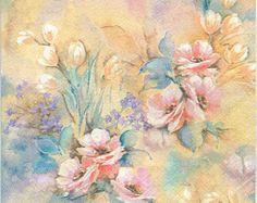 4 Decoupage Napkins | Pastel Rose Dream | Rose Napkins | Romantic Napkins| Pastel Napkins | Paper Napkins for Decoupage