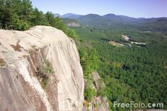 Cathedral Ledge at Echo Lake in North Conway, New Hampshire