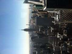 This is the view from the Top of the Rock, which is actually at the very pinnacle of the NBC building. The view of NYC is better here, than that of the Empire State Building