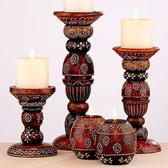 Rena Fall Candleholders... World Market (I couldn't resist them!)