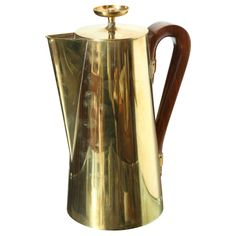 Tommi Parzinger Brass Coffee Pot, 1960s