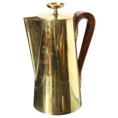 Tommi Parzinger Brass Coffee Pot, 1960s