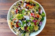 Today, I've got a metabolism boosting quinoa salad that you're going to love. You know that you need to eat plenty of high fiber grains and veggies to get your metabolism going. And high fiber doesn't mean you read it on the box! Those high fiber processed foods are usually full of sugar, gluten, and other chemicals that will actually make it harder to lose weight. Instead, choose grains and veggies like the ones in this salad. Dr. Daryl Gioffre #Alkamind #GetOffYourAcid
