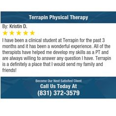 I have been a clinical student at Terrapin for the past 3 months and it has been a...