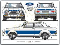 com – Blueprints > Cars > – Classic Cars Ford Rs, Car Ford, Classic Cars British, Ford Classic Cars, Escort Mk1, Ford Escort, Mustangs, Mazda, Automobile