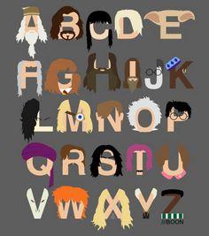 Harry Potter Alphabet Art