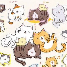 funny-smiling-cats-stickers-from-Japan-165978-1.jpg 500×500 pixels