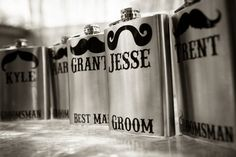 Fun personalized flasks for the groom & his groomsmen! {Town & Country Studios}