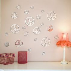 peace sign mirrors